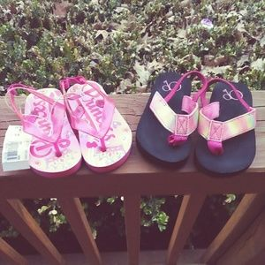 Other - Bundle of Two (Size 5/6) Baby Girl's Flip Flops